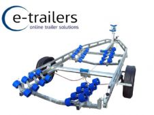 EXTREME 1900kg SUPER ROLLER BOAT TRAILER  - 32 ROLLERS WITH SWING CRADLE - 21ft BOATS or 7m RIBS